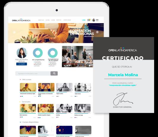 Imagen de plataforma y certificado